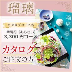 瑠璃 紫陽花(あじさい)(3300円コース)カタログのみ【合わせて30部以上ご購入の方専用】