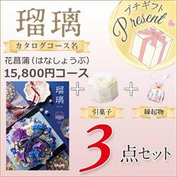 瑠璃 花菖蒲(15800円コース)3点セット【合わせて30部以上ご購入の方専用】