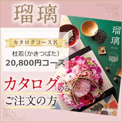 瑠璃 杜若(かきつばた)(20800円コース)カタログのみ【合わせて30部以上ご購入の方専用】