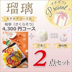 瑠璃 桜草(さくらそう)(4300円コース)2点セット【合わせて30部以上ご購入の方専用】