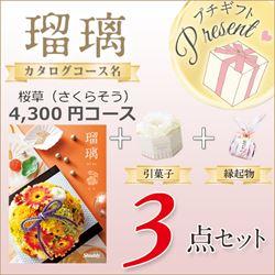 瑠璃 桜草(4300円コース)3点セット【合わせて30部以上ご購入の方専用】