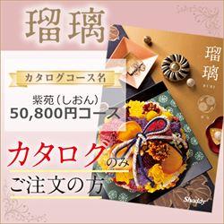 瑠璃 紫苑(しおん)(50800円コース)カタログのみ【合わせて30部以上ご購入の方専用】