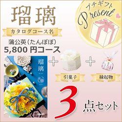 瑠璃 蒲公英(5800円コース)3点セット【合わせて30部以上ご購入の方専用】