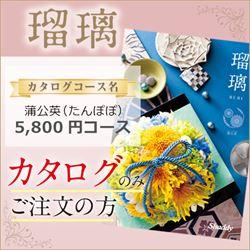 瑠璃 蒲公英(たんぽぽ)(5800円コース)カタログのみ【合わせて30部以上ご購入の方専用】